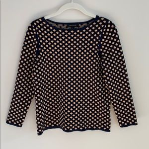 Ann Taylor fine knit diamond pattern sweater.